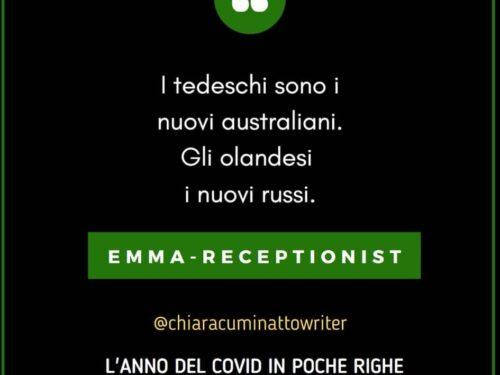 Il Covid in poche righe: Emma-Receptionist