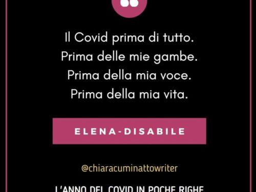 Il Covid in poche righe: Elena-Disabile