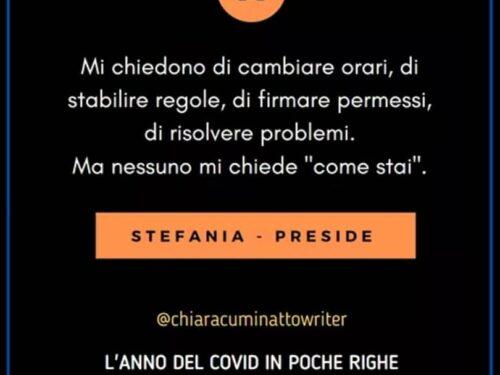 Il Covid in poche righe: Stefania-Preside